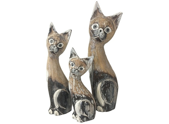 Handcarved Cats